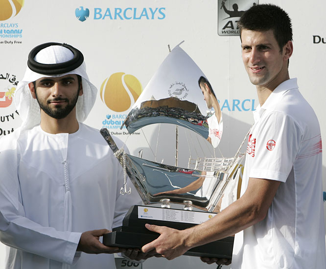 def. Mikhail Youzhny, 7-5, 5-7, 6-3 ATP World Tour 500, Hard, $1,619,500 Dubai, United Arab Emirates