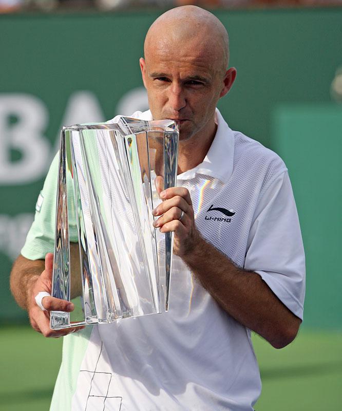 def. Andy Roddick, 7-6(3), 7-6(5) ATP World Tour Masters 1000, Hard, $3,645,000 Indian Wells, Calif.