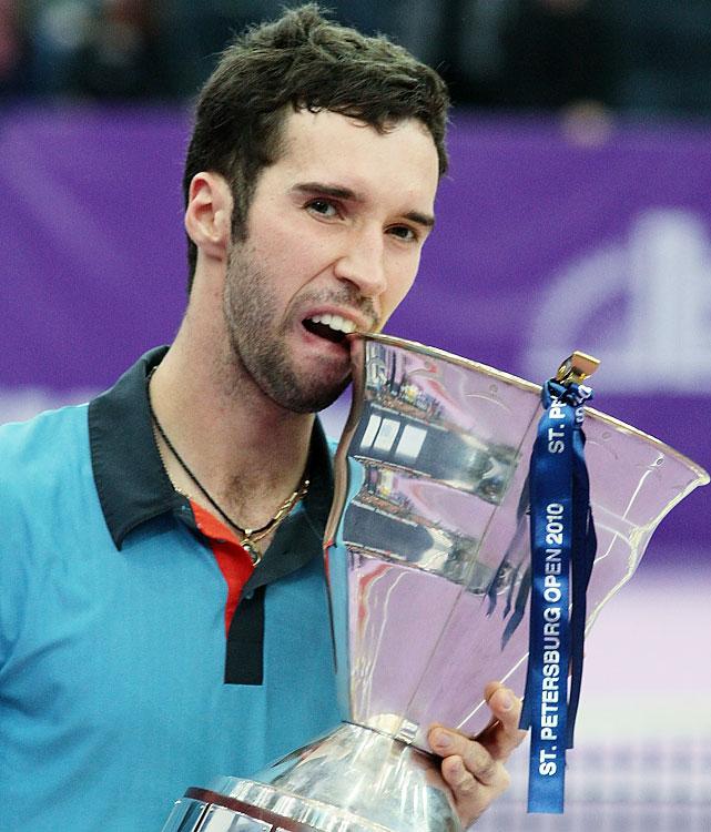 def. Mikhail Youzhny, 6-3, 7-6(2) ATP World Tour 250, Hard (Indoor), €663,750 St. Petersburg, Russia