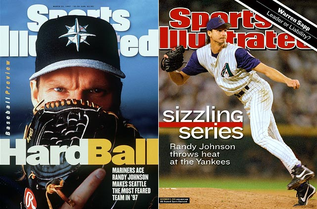 With 303 wins and a career ERA of 3.29 over 22 seasons, Randy Johnson retired in January as one of the game's most recognizable and accomplished figures. The Big Unit was a five-time Cy Young Award winner, 10-time All Star and ranks second in career strikeouts. He owns a World Series ring and co-MVP honors, and threw two no-hitters, including a perfect game.