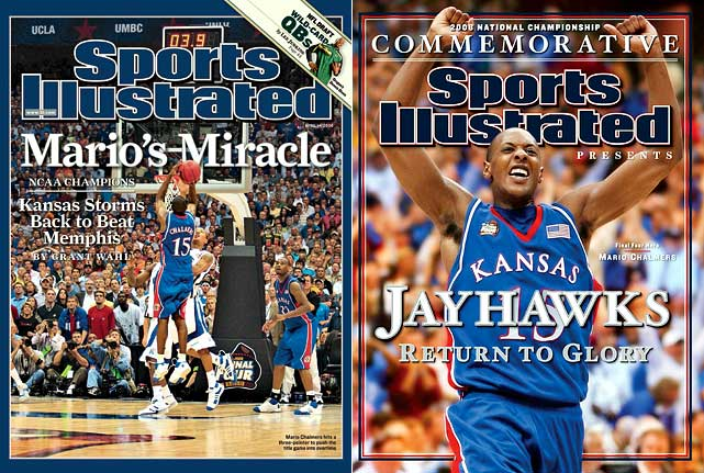 The first Final Four to feature all four No. 1 seeds was a dud on semifinal Saturday, but championship Monday more than made up for it. Sparked by freshman Derrick Rose, Memphis led by nine with just over two minutes left, but Kansas made a furious rally and tied the game on a fading three-pointer by Mario Chalmers with 2.1 seconds left. That shot set up the first overtime title game in 11 years and only the third since 1964. The Jayhawks controlled the extra period and salted away the game by doing the one thing the Tigers could not do in regulation -- make free throws in the final seconds. KU ended up winning 75-68.