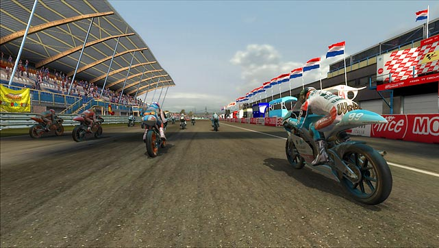 The MotoGP franchise has been more rollercoaster, less motorcycle, over the past few years. But thanks to a complete retooling, the 09/10 game seems headed in the right direction. The game is very approachable, featuring four difficulty settings and light customization of the bikes. Controls are responsive and easy to learn. There's also an ideal racing line on the track -- you can toggle it on and off -- to help you learn the layouts of the tracks. The game sports arcade, championship and career modes, as well as three racing classes: 125cc, 250cc and 800cc. The look of the game is a little washed out, and the graphics don't measure up to the likes of Forza 3. The biggest disappointment, though, is the sound. Many of the bikes sound more like wasps than roaring engines. Ultimately, the game is far more arcade than simulation, but it's worth a look for motorcycling racing fans.<br><br> Rating: 7/10