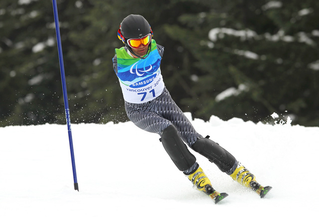 Mher Avanesyan of Armenia competes in the standing slalom during the Vancouver Winter Paralympics on March 15 in Whistler, Canada. The event was won by Adam Hall of New Zealand.
