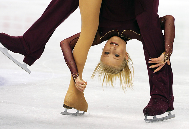 Switzerland's Anais Morand and Antoine Dorsaz perform during the Pairs short program of the World Figure Skating Championships on March 23 in Turin, Italy. The pair finished in 13th place, well behind winners Qing Pang and Jian Tong of China.