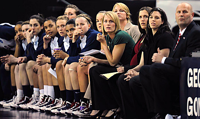 A despondent Gonzaga bench watches during the closing moments of their 74-56 loss to Xavier on March 27 at the ARCO Arena in Sacramento.