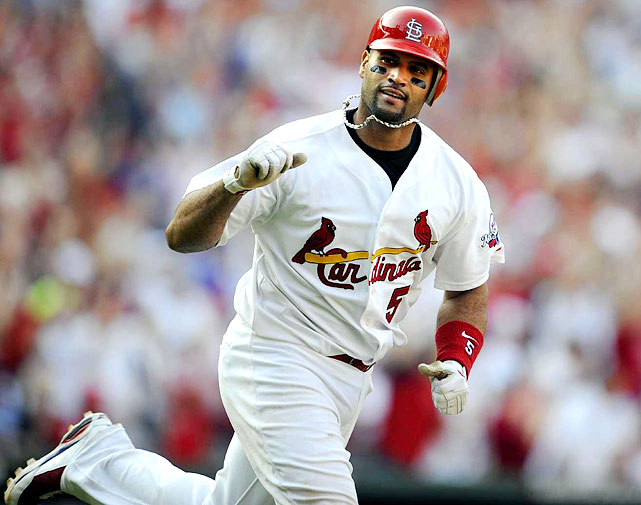 Pujols' monster 2009 season (47 HRs, 135 RBIs, 124 runs, 16 steals, .327 average) stands as one of the greatest 5x5 performance of this century. Lucky for us, he has a good shot at surpassing those numbers in '10 -- at least on two fronts.<br> <b>Projections: <br>44 HRs, 141 RBIs, 117 runs, 14 steals, .338 average.</b>