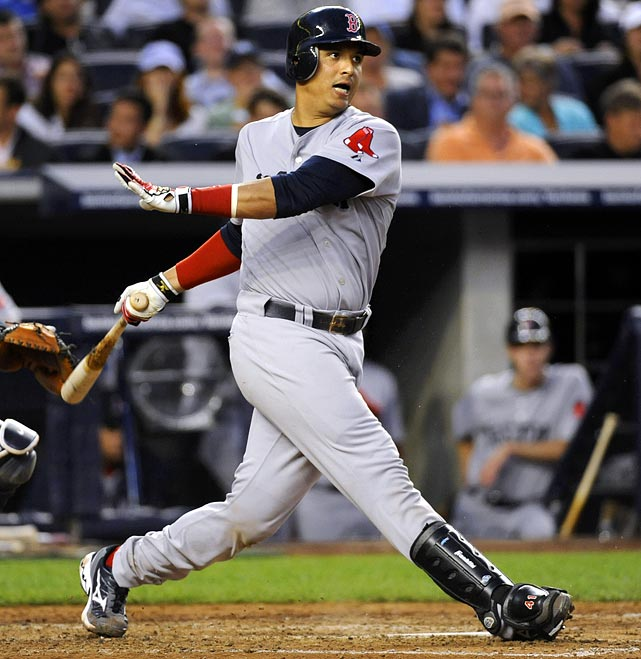 """If V -Mart should play 140-plus games for Boston, he's a solid choice for No. 2 catcher behind Mauer (sorry, McCann). And if the word """"platoon"""" never gets whispered in his direction -- in association with Jason Varitek -- he might surpass Mauer's numbers by season's end. In the meantime, we'll stick at the 3-spot. <br> <b>Projections:<br> 19 HRs, 89 RBIs, 92 runs and .297 average.</b>"""
