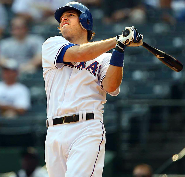 If anyone can challenge Utley for a full season, the smart money lies with Kinsler (31 HRs, 86 RBIs, 101 runs, 31 steals in '09). But that could only happen if Kinsler returns to the neighborhood of his 2008 production in batting average (.319) -- which shouldn't be too hard with Nelson Cruz, Josh Hamilton, Chris Davis and Michael Young as immediate sources of lineup protection. <br><b>Projections: <br>27 HRs, 90 RBIs, 111 runs, 34 steals, .291 average.</b>