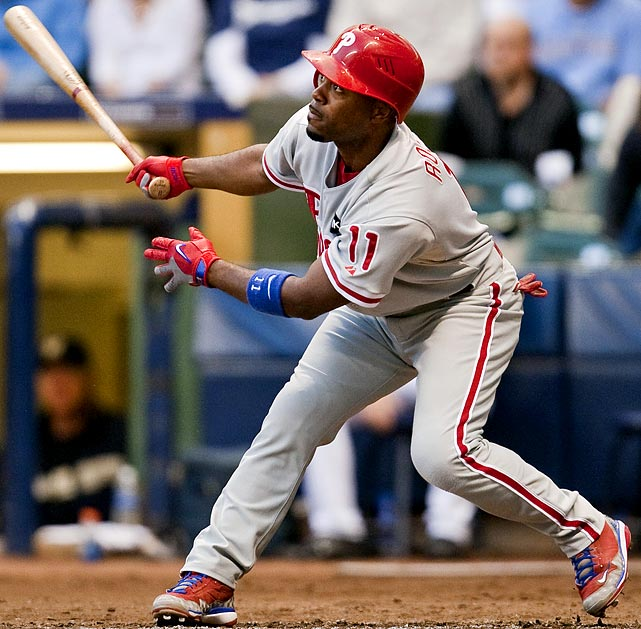 Rollins may be the most difficult superstar to project in all of fantasy baseball this season. At one end, you want to assume that he'll hit around .300 again, while easily clearing 20 homers and 100 runs again. On the other side, owners should expect approximately 80 RBIs and 40 steals from the leadoff hitter of baseball's greatest offensive machine. Put it all together and we're (somewhat) ready to predict the following: <br><b>Projections: <br>22 HRs, 81 RBIs, 107 runs, 42 steals, .268 average.</b>