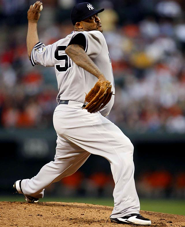 No one is saying that Sabathia is immune to elbow or shoulder injuries. But have you ever seen a smoother, more consistent pitching stroke from a guy who tips the scales at 250 or more? (Soft-tosser Rick Reuschel doesn't count, sorry.) What's our point to this? Simple. Don't expect Sabathia to fall off the proverbial cliff in 2010 as the result of 760-plus innings pitched in the last three seasons (including playoffs). But do expect him to once again carry a staff that now features Javier Vazquez as well. <br><b>Projections:<br> 18 wins, 237 strikeouts, 3.29 ERA, 1.17 WHIP.