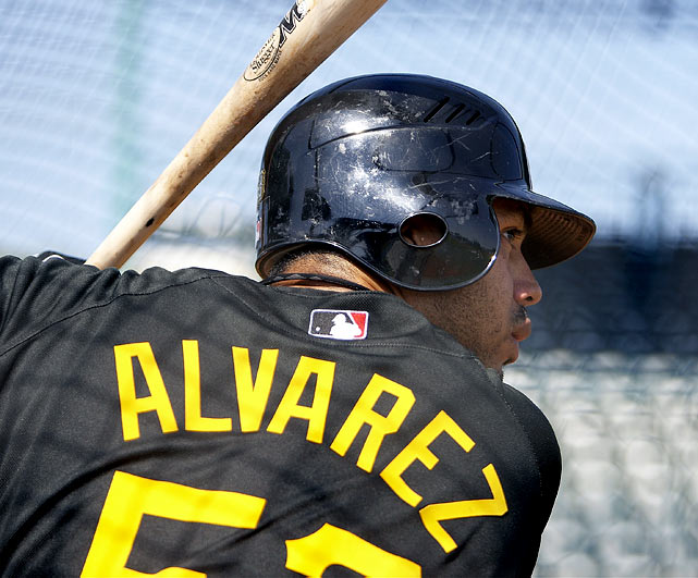 Alvarez spent six weeks at the Athletes' Performance Institute in Arizona working on his conditioning and dietary habits. The Pirates' management made it clear that Alvarez's weight will determine whether he can remain a third baseman. C'mon Pedro, mix in some salads, I own you in multiple dynasty leagues. Clearly, due to position scarcity, he's much more valuable as a third baseman. In his first professional season, between High-A and Double-A combined, Alvarez hit .288, with a .378 OBP, .535 SLG, and 27 bombs. The big boy can hit the ball to all fields and has massive power potential (.230-plus ISO at both levels). Alvarez only has Andy LaRoche blocking him at third base. We all know LaRoche is a utility player, at best. Alvarez will be in the majors by mid-June and will produce solid power numbers upon arrival.