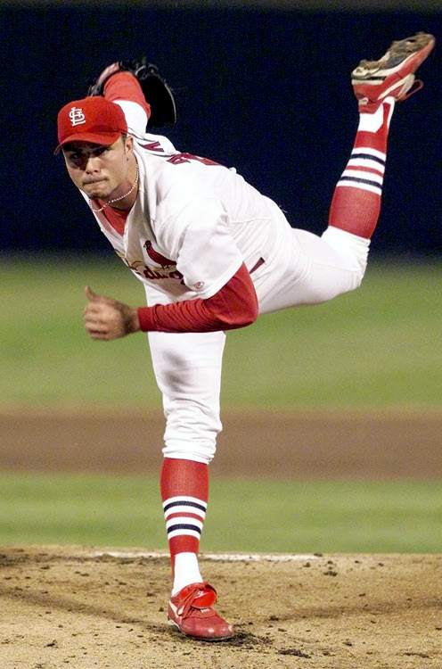 Ankiel looked like an ace in the making when he reached the majors as a 20-year-old in 1999. He went 11-7 with a 3.50 ERA in 2000 but inexplicably lost his control during the postseason and never regained it. He went back to the minors and became an outfielder, resurfacing with the Cardinals in 2007 and hitting 25 home runs in 2008. He signed with the Kansas City Royals this offseason.