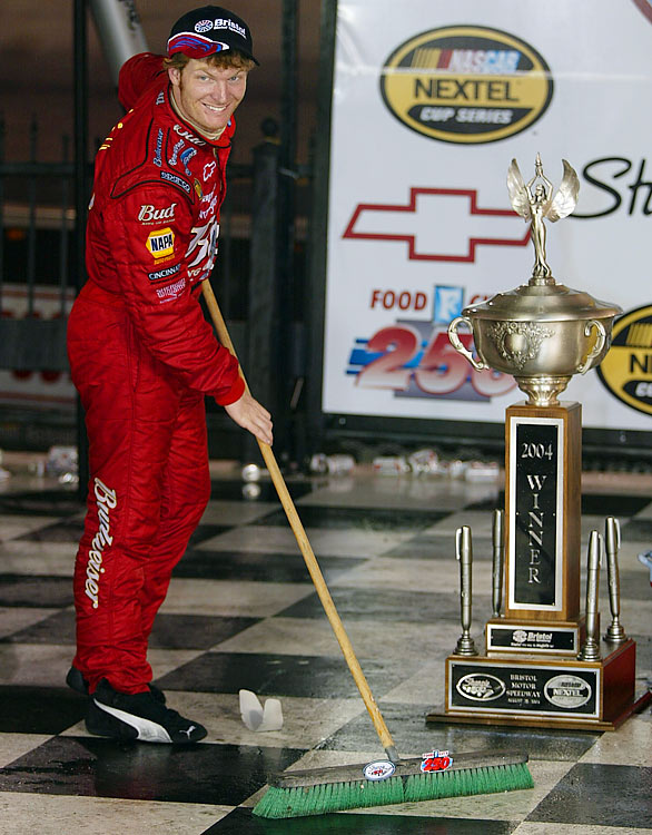 Junior wound up in a little bit of trouble for a four letter word he let slip during a post-race press conference in 2004. It cost him $10,000 and his first-place standing.