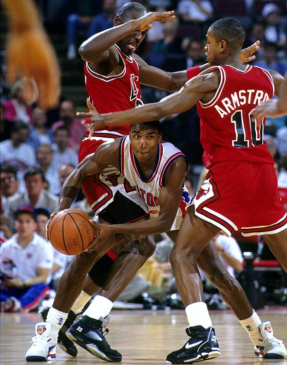 The rivalry was at its peak from 1988 to 1991, when Isiah Thomas and Michael Jordan battled in the playoffs for four straight years, including three straight Eastern Conference championships.