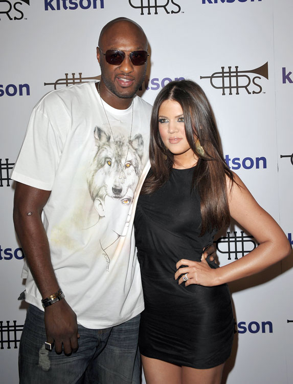 Lamar Odom is a Laker, but he's more famous for being Khloe's husband. They got hitched after a month of dating. Amazingly, their relationship has lasted MUCH longer than her sister Kim Kardashian's 10-week marriage to NBA forward Kris Humphries.