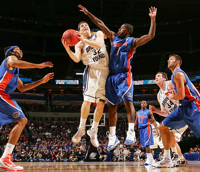 BYU point guard Jimmer Fredette gave Florida all it could handle, posting a game-high 37 points.