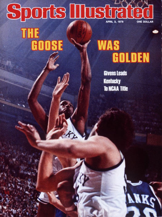 In the 1978 championship game against Duke, Goose Givens shot the Wildcats to a title. He scored a career-high 41 points and earned the tournament MVP as the Wildcats won their first championship in 20 years. Givens, who averaged 16.6 points per game in his Kentucky career, spent three seasons with the Atlanta Hawks and five playing professionally in Japan.