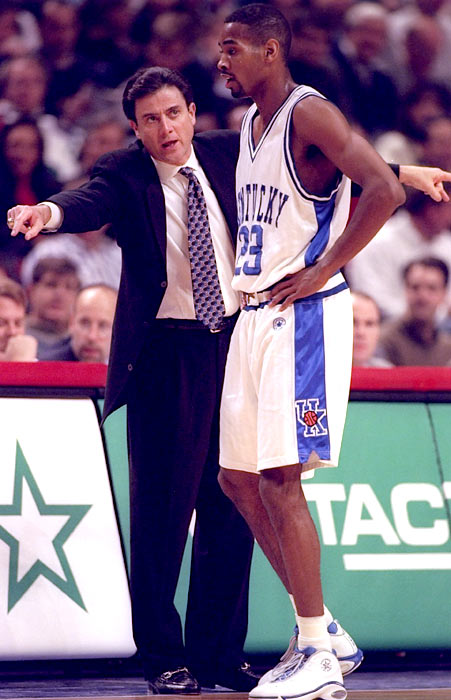 Pitino welcomed Anderson, a transfer from Ohio State, to the Blue and White, and Anderson came up big in the 1996 title game to give the coach his first ring. Syracuse twice closed Kentucky's lead to two, but an Anderson three-pointer helped the Wildcats close out a season that included a 27-game winning streak and 16-0 record in the SEC.