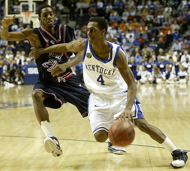 Now an NBA All-Star with the Boston Celtics, Rondo's time at Kentucky was a mixed bag. Although the point guard averaged 11 points per game and piloted the Wildcats to the second round of the NCAA tournament in 2006 (his second and final season), it was the first of two straight seasons with double-digit losses, which resulted in Tubby Smith's exit.