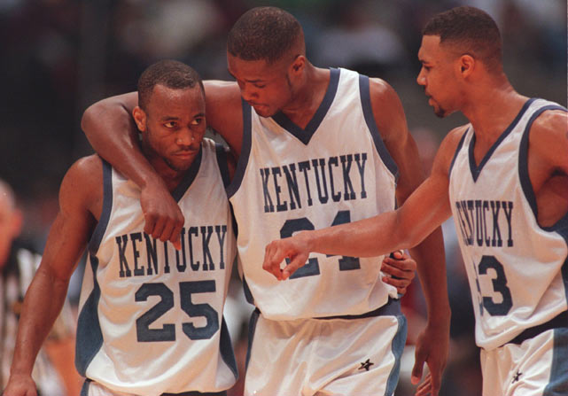 For some Wildcats, the end of their Kentucky careers didn't spell the end of playing for Coach Pitino. Walker was drafted sixth by the Boston Celtics after the 1996 championship and was joined a year later by Mercer and Pitino. But first, Epps, Mercer and Pitino helped the Wildcats return to the title game -- this time an 84-79 loss to Arizona.
