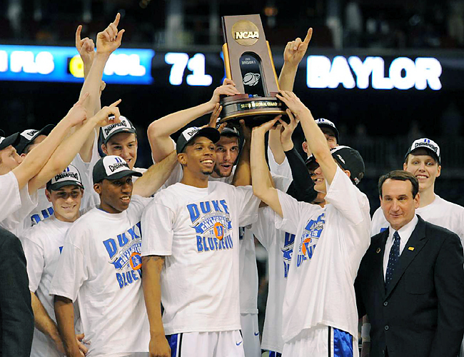 The Blue Devils have won 11 of their last 12 regional finals under coach Mike Krzyzewski, but haven't won a national title since 2001.