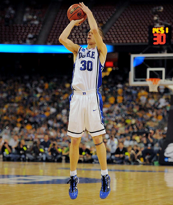 Jon Scheyer was 5-of-10 from 3-point range and added 20 points for the Blue Devils (33-5), the only No. 1 seed to advance to Indianapolis. Duke was 11-of-23 from the 3-point line.