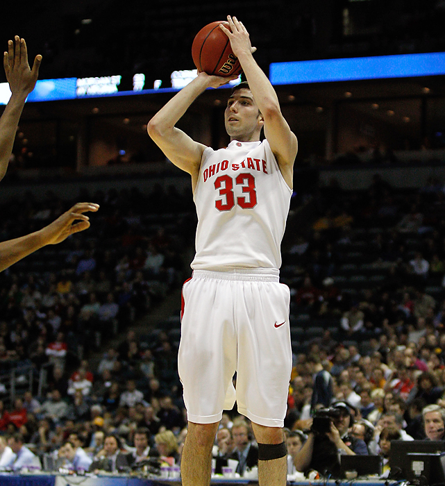 Jon Diebler was one of Friday's shooting stars, connecting on 7-of-12 3-pointers for a game-high 23 points as the second-seeded Buckeyes coasted. Ohio State (28-7), which won the Big Ten Conference tourney, will face tenth-seeded Georgia Tech Sunday.