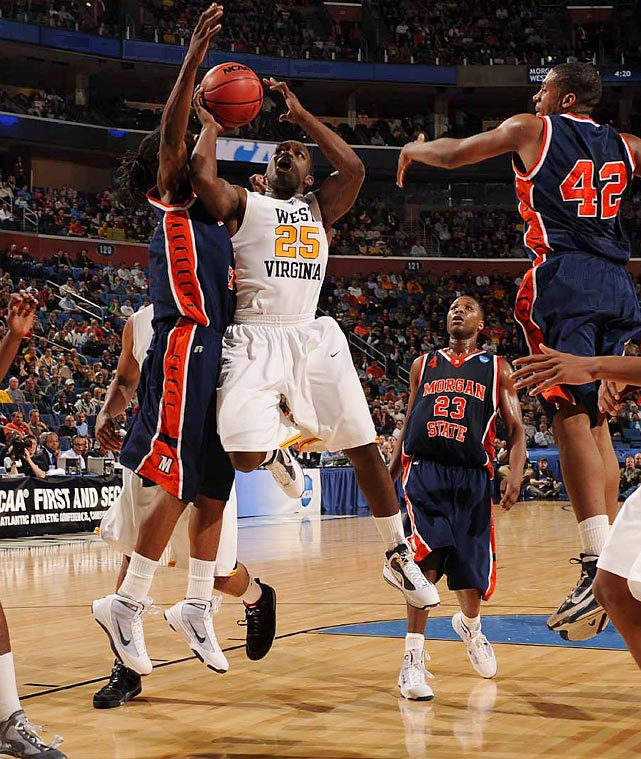 Defensively, West Virginia worked to contain Morgan State's go-to player, Da'Sean Butler. He only wrangled nine points in the game.