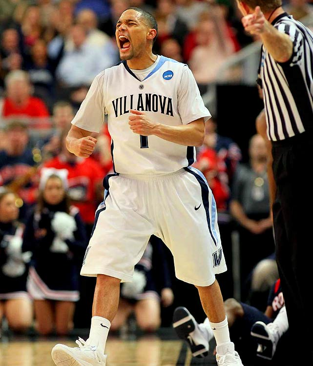 Scottie Reynolds during 'Nova's 73-70 close call against Robert Morris.