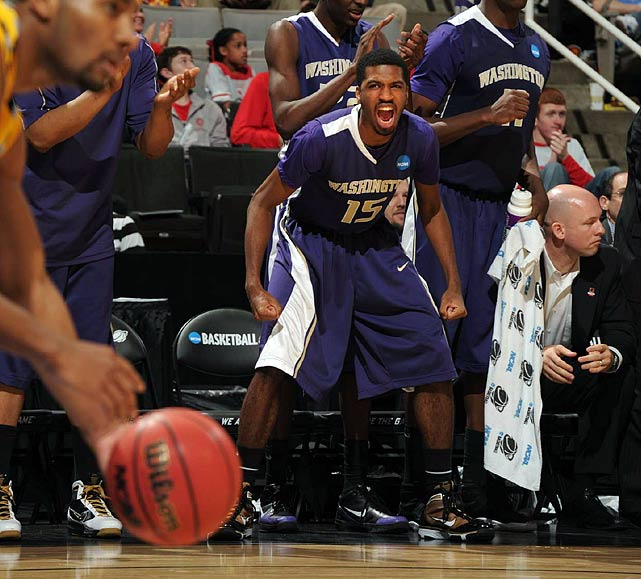 Scott Suggs during the Huskies 80-78 victory over Marquette.