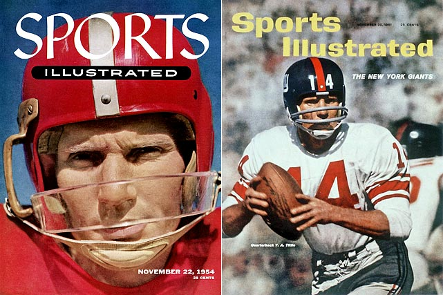 Though Tittle never won a title with the Giants, he did come close, guiding New York to the top of the Eastern Conference from 1961 to 1963 before losing three NFL Championship Games. He was named the league's MVP in 1963.