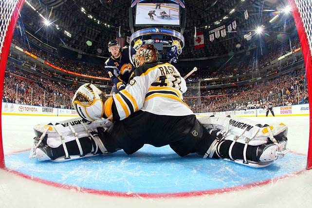 There sat Tim Thomas. For seven straight games, the 2009 Vezina-winner was planted on the Boston bench while the team turned to Rask to bail it out of its longest slump since 1926. The Finnish keeper, all calm and confidence, turned their season around with four consecutive wins. A limited number of appearances -- just 26 starts -- is likely to eliminate him from serious contention, but Rask's play has been a revelation, and could earn Thomas a ticket out of town.