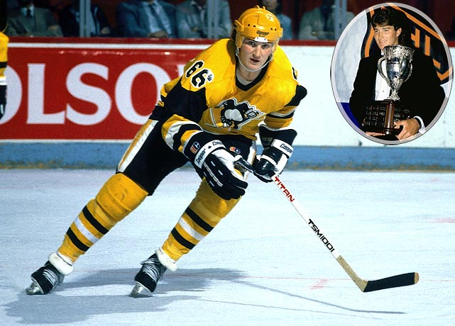 The coveted prize in the 1984 draft, Super Mario lived up to his hype by scoring 43 goals and 100 points, quickly becoming the offensive rival of Wayne Gretzky, who never won the Calder due to his 80 games in the WHA. Lemieux's Hall of Fame career was interrupted by illness and injury, but he retired in 2006 with six Ross, three Hart, two Smythe and two Stanley Cups on his mantelpiece. He also became the principal owner of the Penguins in 1999 when he bought the club in an effort to save it from bankruptcy.