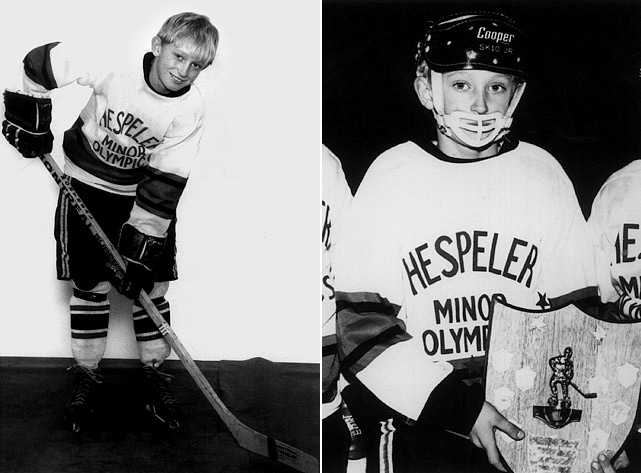 """At age nine, Wayne Gretzky was a youth hockey phenomenon in Canada. As he progressed quickly from level to level and dominated against much older players, some newspapers called him """"the next Bobby Orr"""" for his speed and skill. Gretzky would go on to break the great Gordie Howe's career mark of 801 goals on March 23, 1994 and retire in 1999, after 20 NHL seasons, with 2,857 career points -- 1,007 more than Howe recorded during his storied 26-year NHL career."""