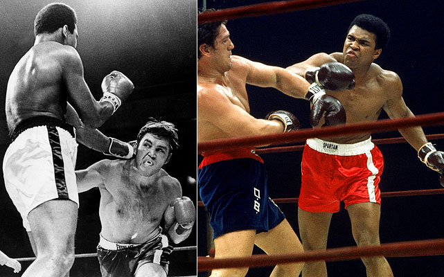 In today's 24/7 news cycle, the return Muhammad Ali made to boxing might have rivaled the coverage Tiger Woods is creating for his planned return at the Masters. Ali's refusal to be inducted into the Army led to his arrest and the loss of his boxing title. While the case was being appealed to the U.S. Supreme Court, he defeated Jerry Quarry in an October 1970 bout in Georgia. However, his first fight after the Supreme Court overturned the conviction took place at Madison Square Garden, where he won in 15 rounds over Oscar Bonavena, paving the way for Ali-Frazier (The Fight of the Century).