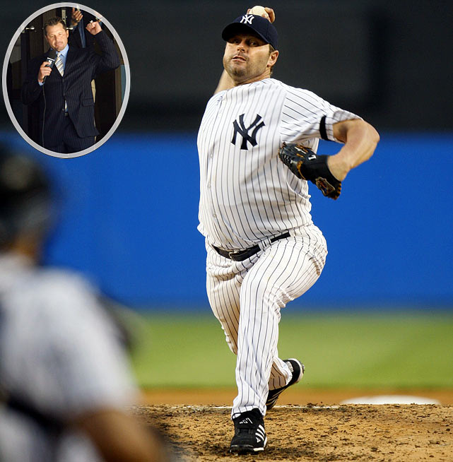 "The seven-time Cy Young Award-winner ""unretired"" for the fourth time by showing up at Yankee Stadium on May 6, 2007 to announce he would re-join the team for which he had pitched from 1999-2003. ""Well, they came and got me out of Texas and I can tell you it's a privilege to be back,"" he told the roaring crowd over the public address system. ""I'll be talking to y'all soon."" After signing a one-year deal for $28,000,022, Clemens went 6-6 with a 4.18 ERA and retired again...for good."