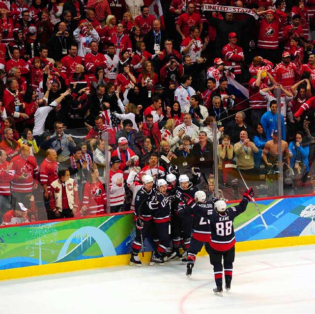 Except for the U.S. players celebrating on the ice, and a handful of Americans in the stands, most in the building stood stunned in silence.
