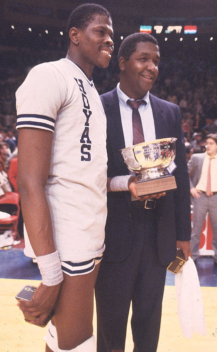 "Coach John Thompson and Patrick Ewing helped revitalize Georgetown hoops as ""Hoya Paranoia"" swept the nation."