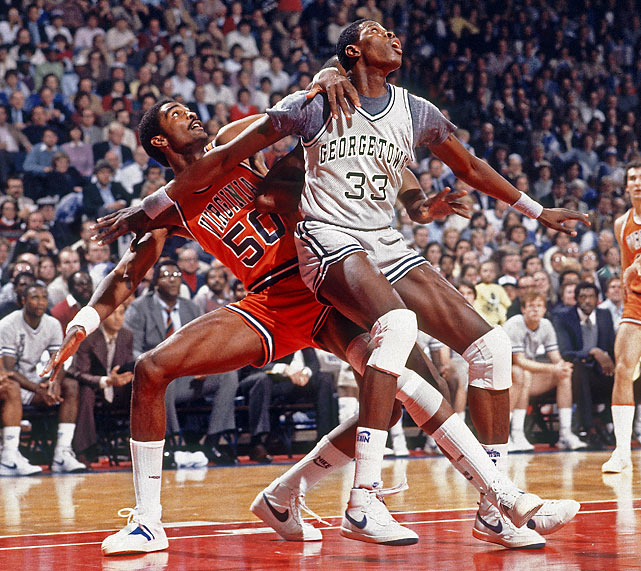 Among Ewing's stiffest competition was Virginia's 7-foot-4 center Ralph Sampson. The two were widely considered the nation's two best big men.