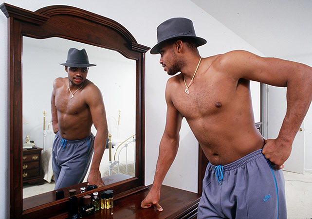 Barkley, who famously battled weight issues throughout his career, likes what he sees in the mirror.
