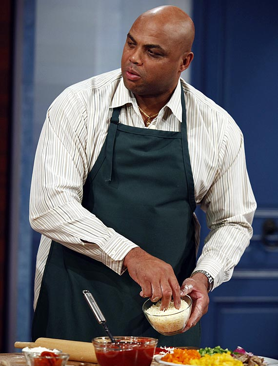 Barkley makes pizza on the Jay Leno Show in November 2009. Barkley appeared on the show with Biggest Loser contestant Allen Smith. He later became a spokesman for WeightWatchers in 2011.