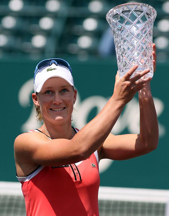 def. Olga Govortsova, 6-0, 6-3 WTA Premier, Clay (Green), $700,000 Charleston, S.C.