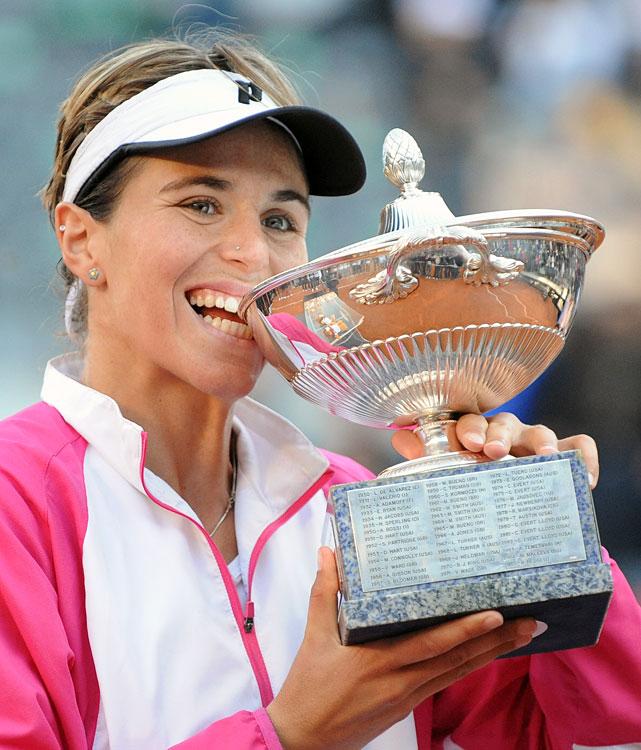 def. Jelena Jankovic, 7-6(5), 7-5 WTA Premier, Clay, $2,000,000 Rome, Italy