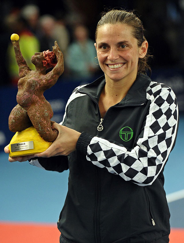 def. Julia Goerges, 6-3, 6-4 WTA International, Hard (Indoor), $220,000 Luxembourg City, Luxembourg