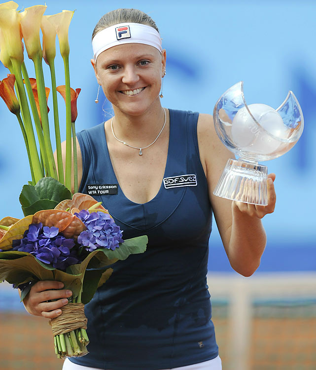 def. Barbora Zahlavova Strycova, 6-2, 1-6, 6-2 WTA International, Clay, $220,000 Prague, Czech Republic