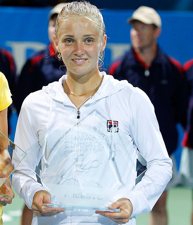def. Johanna Larsson, 6-1, 6-2  WTA International, Hard, $220,000 Portoroz, Slovenia