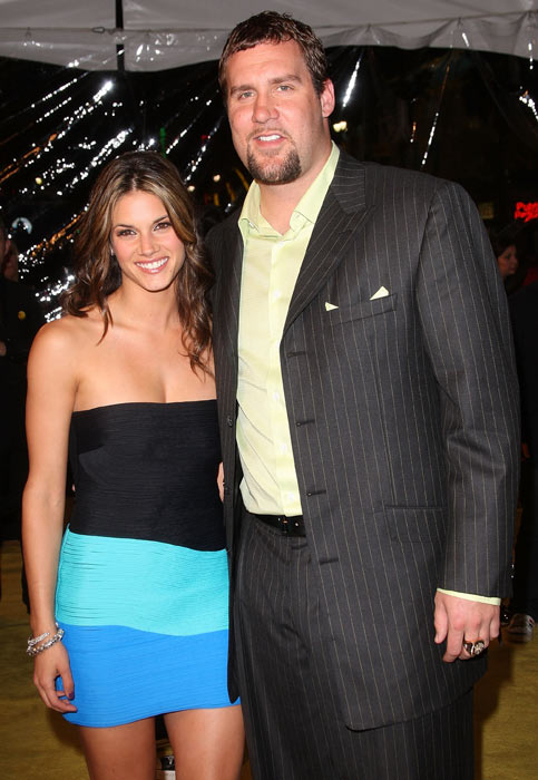 "Roethlisberger arrives at the premiere of ""Watchmen"" with actress Missy Peregrym at Grauman's Chinese Theatre in Hollywood."