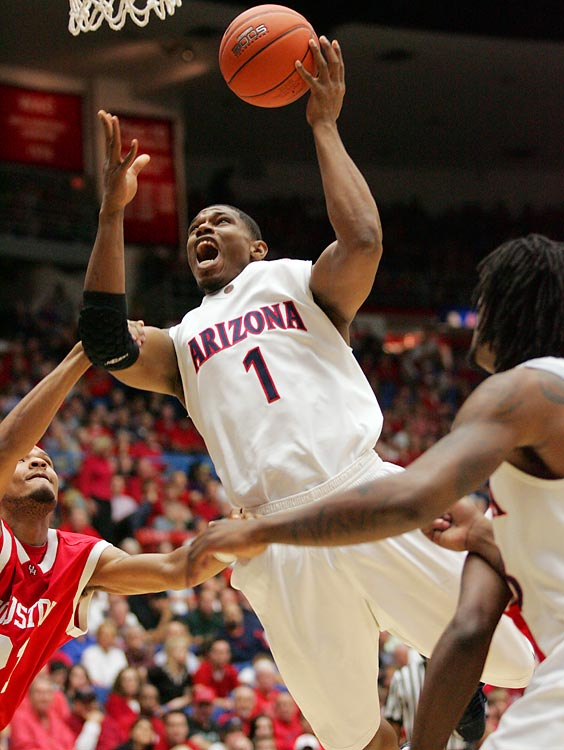 tuck behind future NBA stars Jordan Hill and Chase Budinger, Onobun rarely played for the Wildcats basketball team during his four-year career.