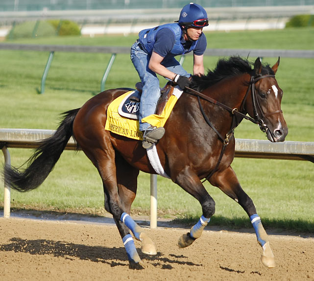 Impressive winner of the April 3 Illinois Derby for trainer Eoin Harty (a former assistant to Baffert), he is one of two Kentucky Derby starters for Kentucky-based WinStar farm, which lost a third when Sunland Derby winner Endorsement was injured in a workout three days before the Kentucky Derby. Like several others in the field, this Lion seems to resist taming and likes running on the front. Unlike some of those other speedballs, he has shown some signs that he can be held back and attack later in the race.