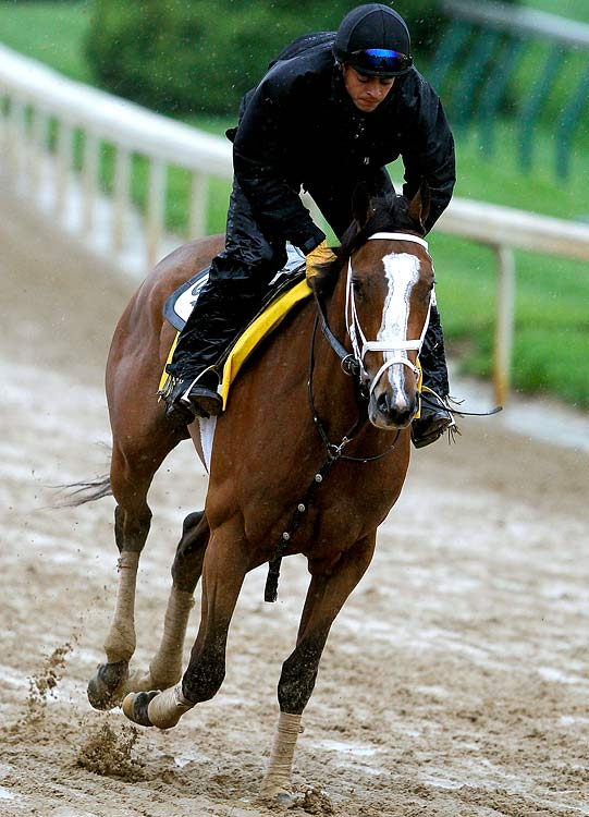 When a filly starts in the Kentucky Derby, it's news. Only three have won the race (Regret in 1915, Genuine Risk in 1980 and Winning Colors in 1988) and in recent years some of the most buzz-worthy horses in the sport have been fillies: Belmont winner Rags to Riches in 2007, Horse of the Year Rachel Alexandra and Breeders Cup Classic winner Zenyatta last year. The Todd Pletcher-trained Devil May Care is only in the race because the injury to Eskendereya freed up jockey John Velasquez, but she's a real threat to make Derby Day Ladies Day.